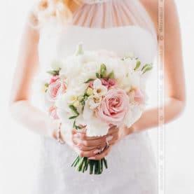 Romantyczna wiązanka ślubna