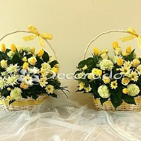 Delikatne żółte kwiaty