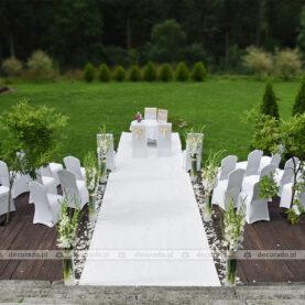 Dekoracja ślubna – ślub w plenerze – Pałac Iwno