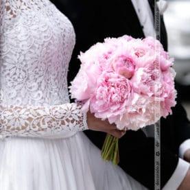 Romantyczne różowe piwonie