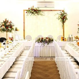 Dekoracja ślubna w stylu boho – Hotel Ossowski