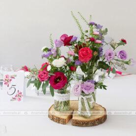 Amarant i fiolet – intensywne barwy dekoracji ślubnej w Novel House