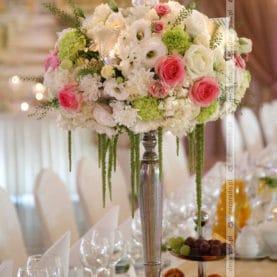 Dekoracja ślubna – eleganckie świeczniki – Pałac na Opieszynie