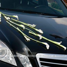 Dekoracja samochodu do ślubu – białe cantadeski