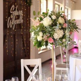 Dekoracja sali weselnej w Bagatelce