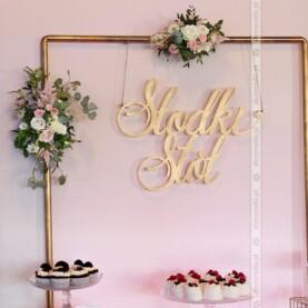 Dekoracja słodkiego stołu – Hotel Bagatelka