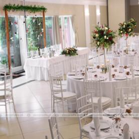 Dekoracja ślubna w jesiennych kolorach – Sala Parkowa Pałacu Wąsowo