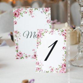 Papeteria ślubna w kolorze dekoracji sali – Hotel Glamour