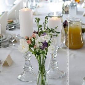 Delikatne, eleganckie dodatki  w dekoracji sali – Zamek w Rydzynie