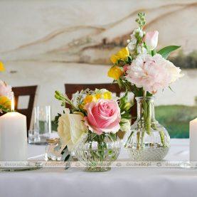 Dekoracja stołu prezydialnego – Restauracja Culinaria w Obornikach