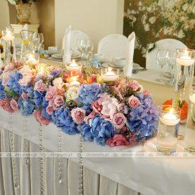 Romantyczna dekoracja sali w Pałacu na Opieszynie