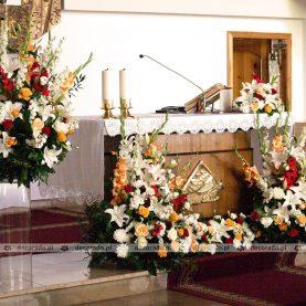 Przepych kwiatów i kolorów – dekoracja Kościoła w Zielińcu