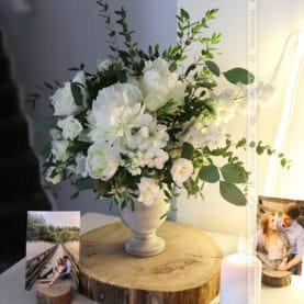 Biel kwiatów i zieleń liści – dekoracja ślubna Hotelarni