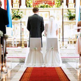 Wystrój ślubny Kościoła w Buku