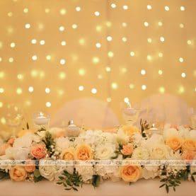 Kurtyna świetlna za stołem prezydialnym – namiot przy Pałacu Wąsowo