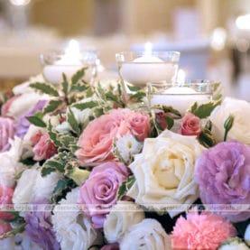 Piękne róże w trzech współgrających kolorach