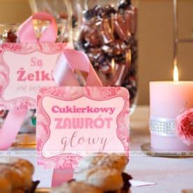 Dekoracyjne detale – candy bar w Pałacu Biedrusko