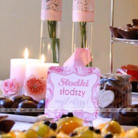 Dekoracja słodkiego stołu – Pałac Biedrusko