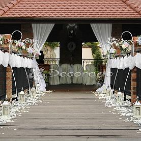 Dekoracja ślubna w plenerze – ślub cywilny Villa Natura Dolsk