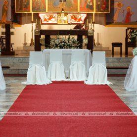 Dekoracja ślubna – Kościół św. Anny