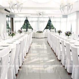 Dekoracja ślubna – naturalne bukiety – Dworek Róża Poraja