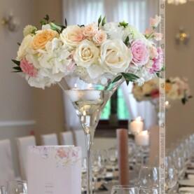 Dekoracja sali w pastelach – Róża Poraja