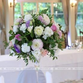 Delikatna dekoracja ślubna w Pałacu Tłokinia