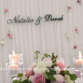 Dekoracja ślubna w Restauracji Hacjenda
