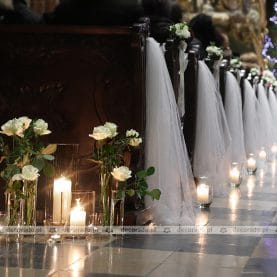 Romantyczna dekoracja ślubna Katedry Poznańskiej