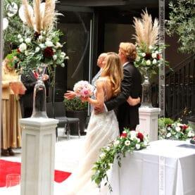Romantyczna dekoracja ślubna – Młyńska 12