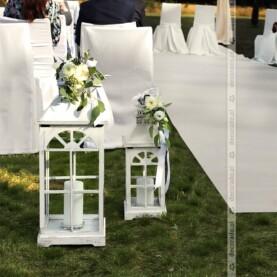 Dekoracja ceremonii ślubnej – romantyczna brama ślubna – Hotel Barczyzna