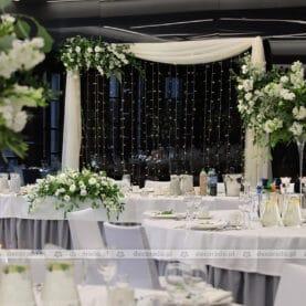 Dekoracja sali – kwiaty w zieleni liści – Barczyzna