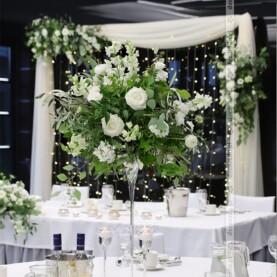 Dekoracja ślubna z naturalną zielenią – Barczyzna