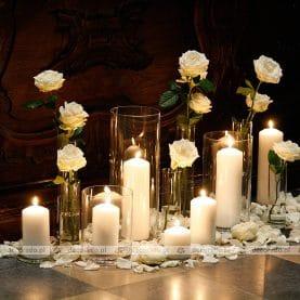 Romantyczna dekoracja ślubna – Katedra Poznańska