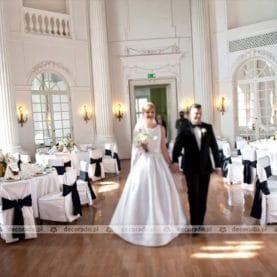 Dekoracja ślubna sali w Pałacu w Rydzynie