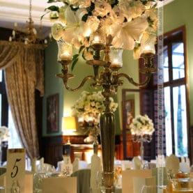 Dekoracja ślubna w bieli – elegancka dekoracja sali Pałac Wąsowo