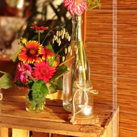 Naturalne bukiety w buteleczkach i słoiczkach