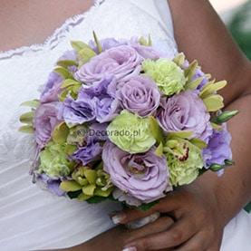 Wiązanka ślubna – fiolety