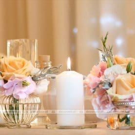 Dekoracja stołu prezydialnego – Dworek Czardasz