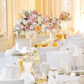 Dekoracja ślubna sali – Dworek Czardasz
