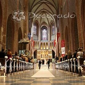 Dekoracja ślubna w eleganckiej bieli – Katedra Poznańska