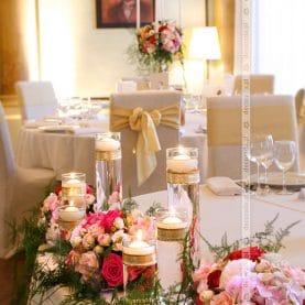 Dekoracja ślubna sali weselnej w Pałacu w Iwnie