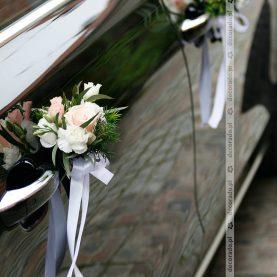 Kwiaty przy klamkach