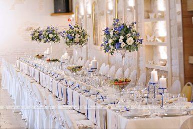 Dekoracja ślubna sali w Hotelu Kosmowski