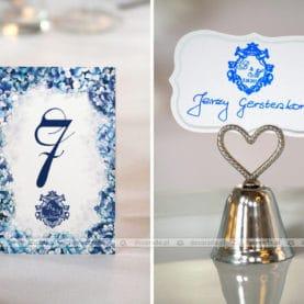 Dekoracje ślubne w kolorze chabrowym