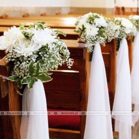 Delikatna dekoracja ślubna Kościoła Sanktuarium w Sobocie