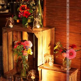 Rustykalna dekoracja w Restauracji Oaza