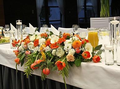 Hotel Barczyzna – kompozycja na stół prezydialny