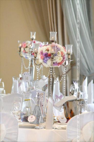 Elegancka dekoracja ślubna w Pałacu Jaśminowym