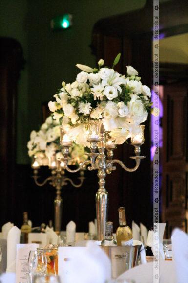 Elegancka dekoracja sali w Pałacu Wąsowo